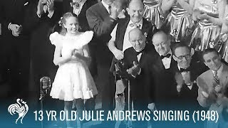 Julie Andrews (Aged 13) Sings for King George VI (1948) | British Pathé