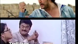 Kiccha Sudeep and Jaggesh Funny Video | Just for Fun | Troll Icon