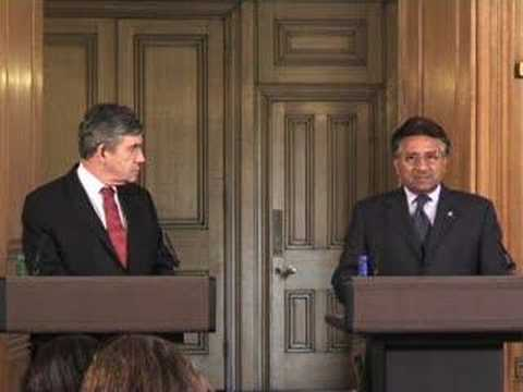 The PM and Pervez Musharraf, President of Pakistan.
