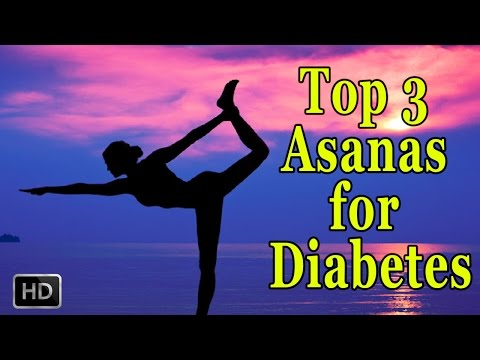 Yoga - Top 3 Simple Yoga Asanas for Diabetes - Weight Loss Exercise for Beginners