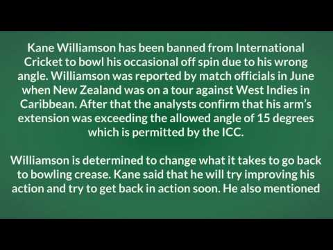 Kane Williamson Kiwi batsman banned to bowl