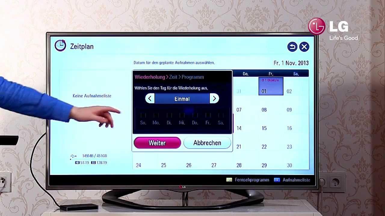 Lg Led Smart Tv 7 Usb Recording Aufnehmen Mit Dem Tv