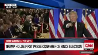 Donald J Trump refuses to take a question from CNN