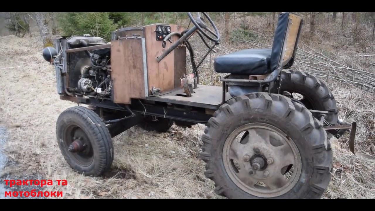 Как сделать самодельный трактор из двигателя москвич