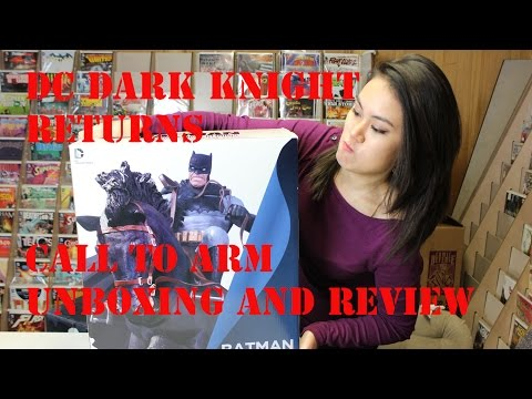 DC Batman Dark Knight Returns Call to Arms Statue Unboxing and Review
