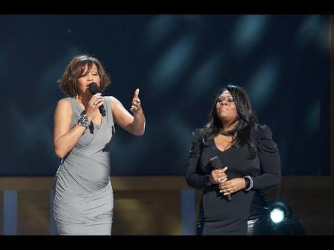 Whitney Houston and Kim Burrell perform
