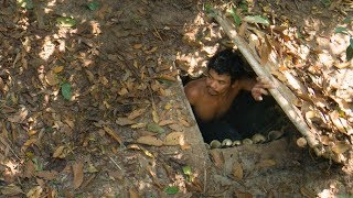 Building Top Secret Underground Bamboo House By Ancient Skill