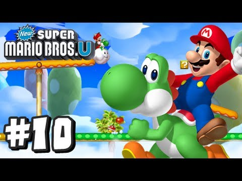 New Super Mario Bros U Wii U - Part 10 World 7-1, 7-2, 7-3, 7-Tower, & 7-Boo House