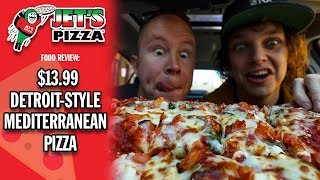 Jet's Pizza's $13.99 Large Mediterranean Pizza Food Review | #Sponsored