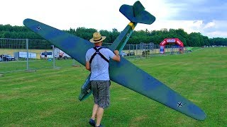 HUGE XXXL RC OLDTIMER GLIDER TOWING WITH WILGA FLIGHT DEMONSTRATION