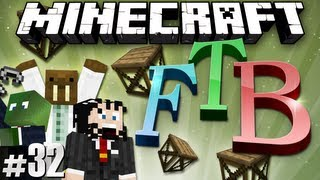 Minecraft Feed The Beast #32 - Wizard Tower & Scaffolds!