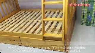 Giường ngủ 2 tầng cho bé HAPPY HOME - Đồ Gỗ Xuất Khẩu Quận 5 TP HCM