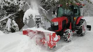 17 Snow blowing January 18th. A foot of heavy snow.
