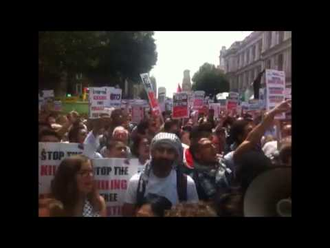 Pro-Gaza protesters chant: 'David Cameron, Shame on you'