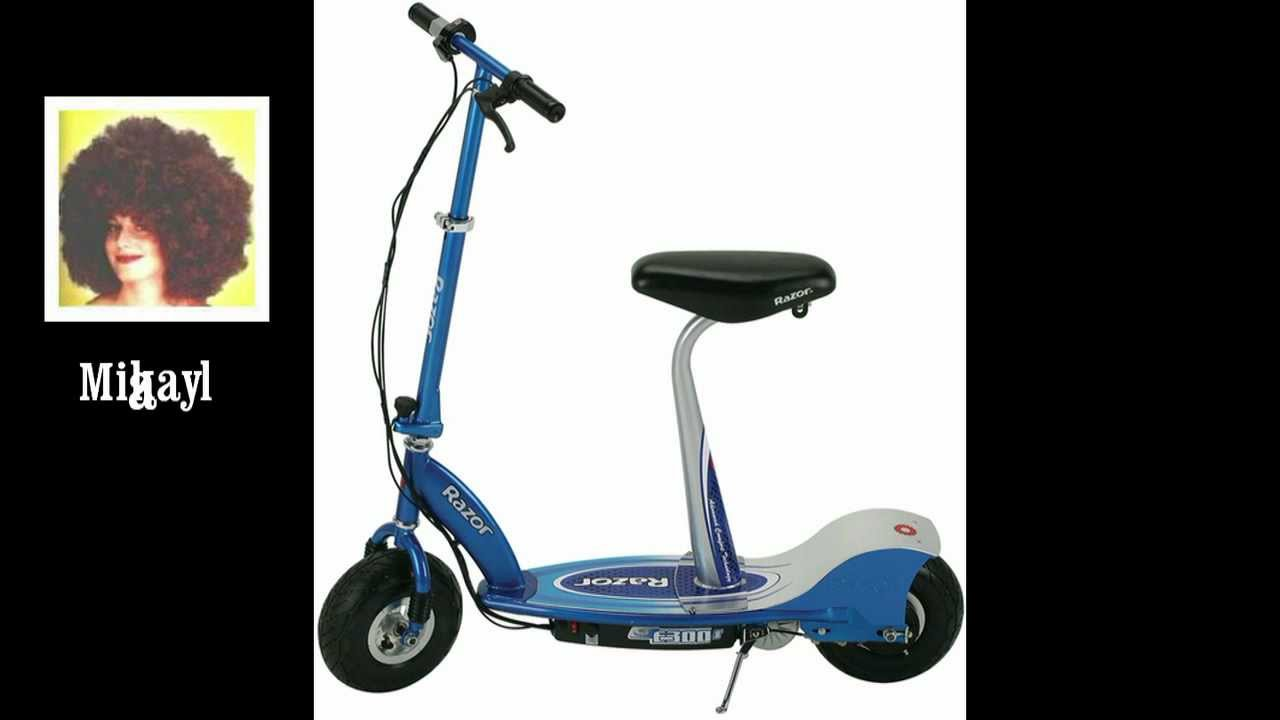 Electric Razor Scooter With Seat Razor E300s Seated Electric