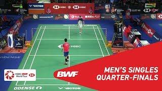 QF | MS | Anders ANTONSEN (DEN) vs HUANG Yuxiang (CHN) | BWF 2018