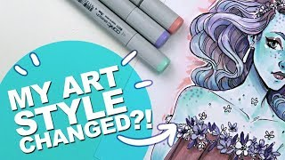 WHAT!? WHEN? WHERE? HOW!? | Expensive Art Supplies can be Worth It | Marker Illustration