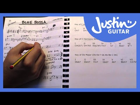 Jazz Standard: Blue Bossa - Harmonic Analysis - Kenny Dorham (Guitar Lesson JA-542)