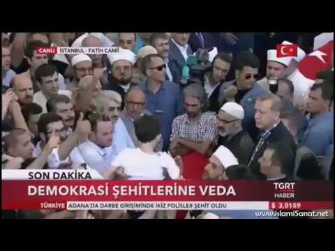 Darbe savunmasında şehit olanların cenaze töreni/Recep Tayyip Erdoğan/17.07.2016