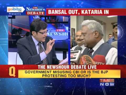 The Newshour Debate: Is the Government using CBI or BJP protesting too much? (Part 2 of 3)