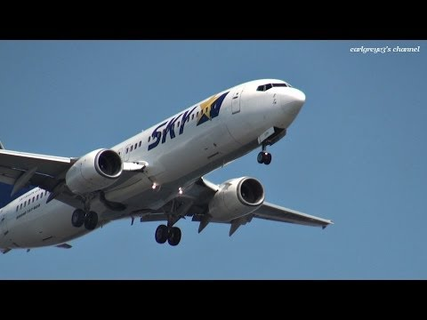 Skymark Airlines (SKY) Boeing 737-800 JA737H 羽田空港 アプローチ 2013.10.12