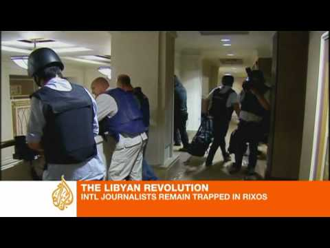 Foreign reporters trapped in Libya hotel