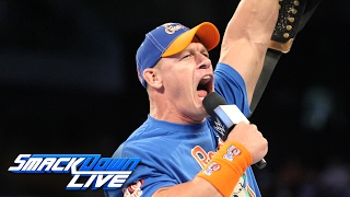 John Cena returns to SmackDown LIVE as a 16time World Champion SmackDown LIVE Jan 31 2017