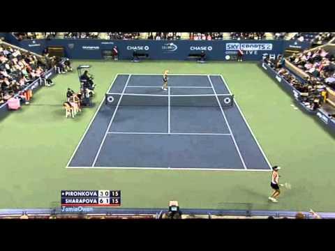 Maria Sharapova vs Tsvetana Pironkova 2009 US Open Highlights