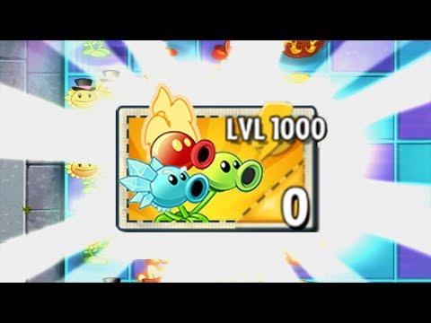 Plants vs Zombies 2 New Pea Plant LEVEL 1000 Power-Up! vs PVZ2 All Zomboss