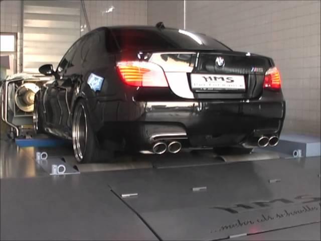 BMW M5 V10 mit HMS-Klappenabgasanlage - YouTube