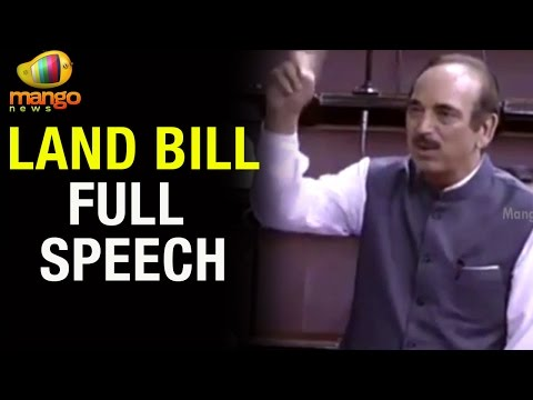 Ghulam Nabi Azad Speech on Land Bill and Farmers Suicide | Full Speech