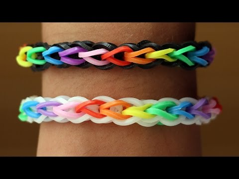 Rainbow Loom English - DOUBLE CROSS SINGLE - Loom Bands. easy. how to. DIY