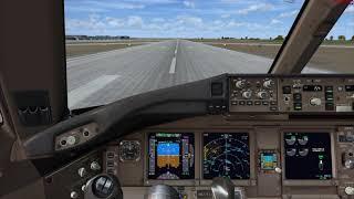 Microsoft Flight Simulator X 2018 B777 mouse yoke takeoff (RCTP)