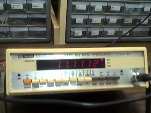 BK 1805 80 mhz freq counter.avi