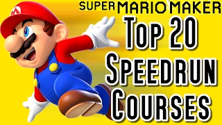 Super Mario Maker Top 20 SPEEDRUN Courses (Wii U) [スーパーマリオメーカー] [スピードランコース]