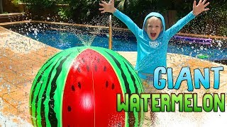 Michael and the Giant Watermelon!