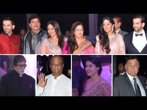 Sonakshi Sinha's brother WEDDING RECEPTION | Bollywood ATTEND