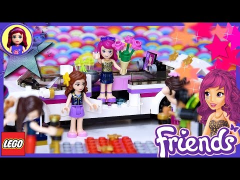 Lego Friends Pop star Limo Build Review Silly Play - Kids Toys