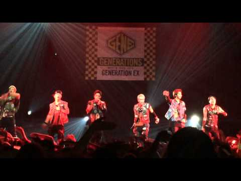 Never let you go GENERATIONS FROM EXILE TRIBE Concert Paris 12/06/2015
