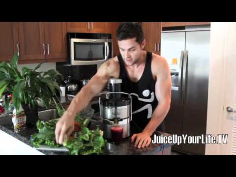 Juice Recipe Liver Cleanse  Beets - Lemon - Pair - Carrot - Ginger - Watercress - More video