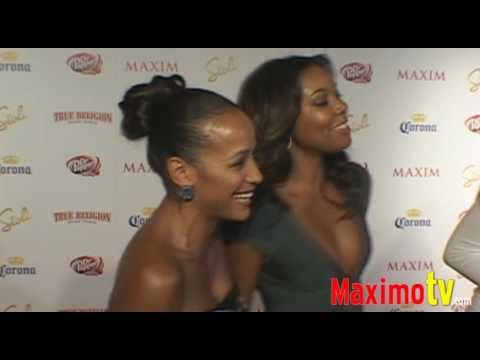 GABRIELLE UNION and DANIA RAMIREZ at 'MAXIM'S HOT 100 PARTY 2009' Red Carpet Arrivals Video