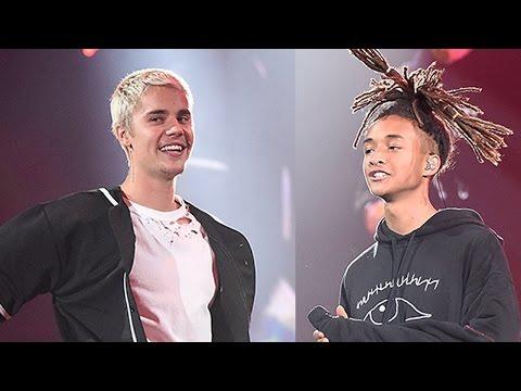 Justin Bieber & Jaden Smith REUNITE For 'Never Say Never' Performance