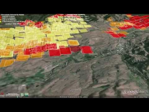 Fly Through of Carlton Complex Fire Data 7-18-2014