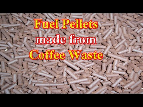 Fuel Pellets Made From Coffee Waste (DIY)