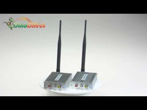 2.4GHz 4CH Wireless AV Receiver & 2000mW Transmitter Security System 2.4G-2W - dinodirect