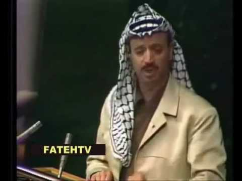 Yasser Arafat Speech Young at the UN (United Nations)in 1974