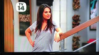 Ashton Kutcher and Mila Kunis on Two and a Half Men together part 2