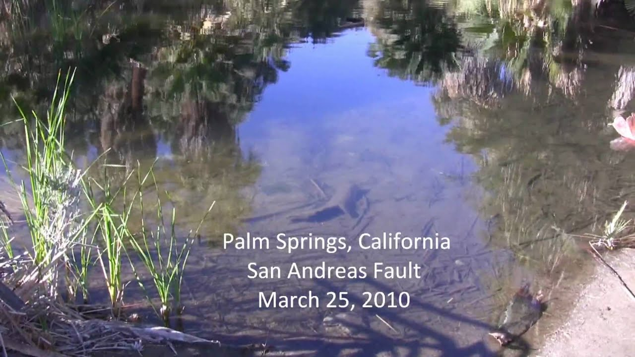 San Andreas Fault Palm Springs Ca Youtube