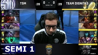 TSM vs Dignitas | Game 1 Semi Finals S7 NA LCS Summer 2017 Play-Offs | TSM vs DIG G1 SF