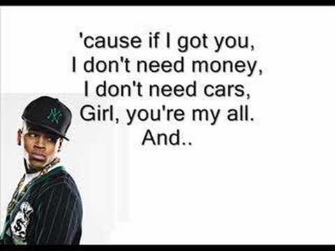 Chris Brown-with You Karaoke video